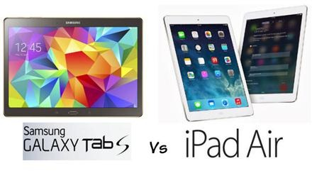 Samsung Galaxy Tab S Vs iPad Air