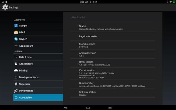 Stable Android 4.4.4 Kitkat ROM for Galaxy Tab 10.1